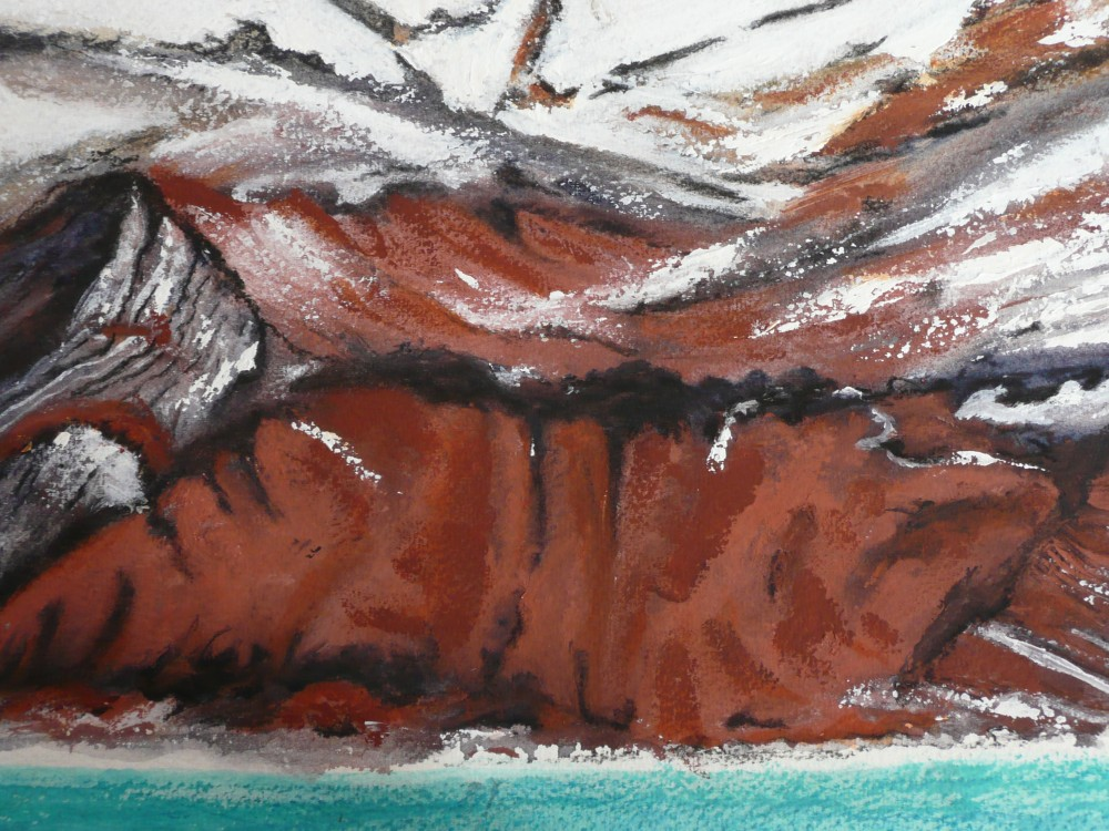 Lava ash and ice 2 by Marijke Gilchrist