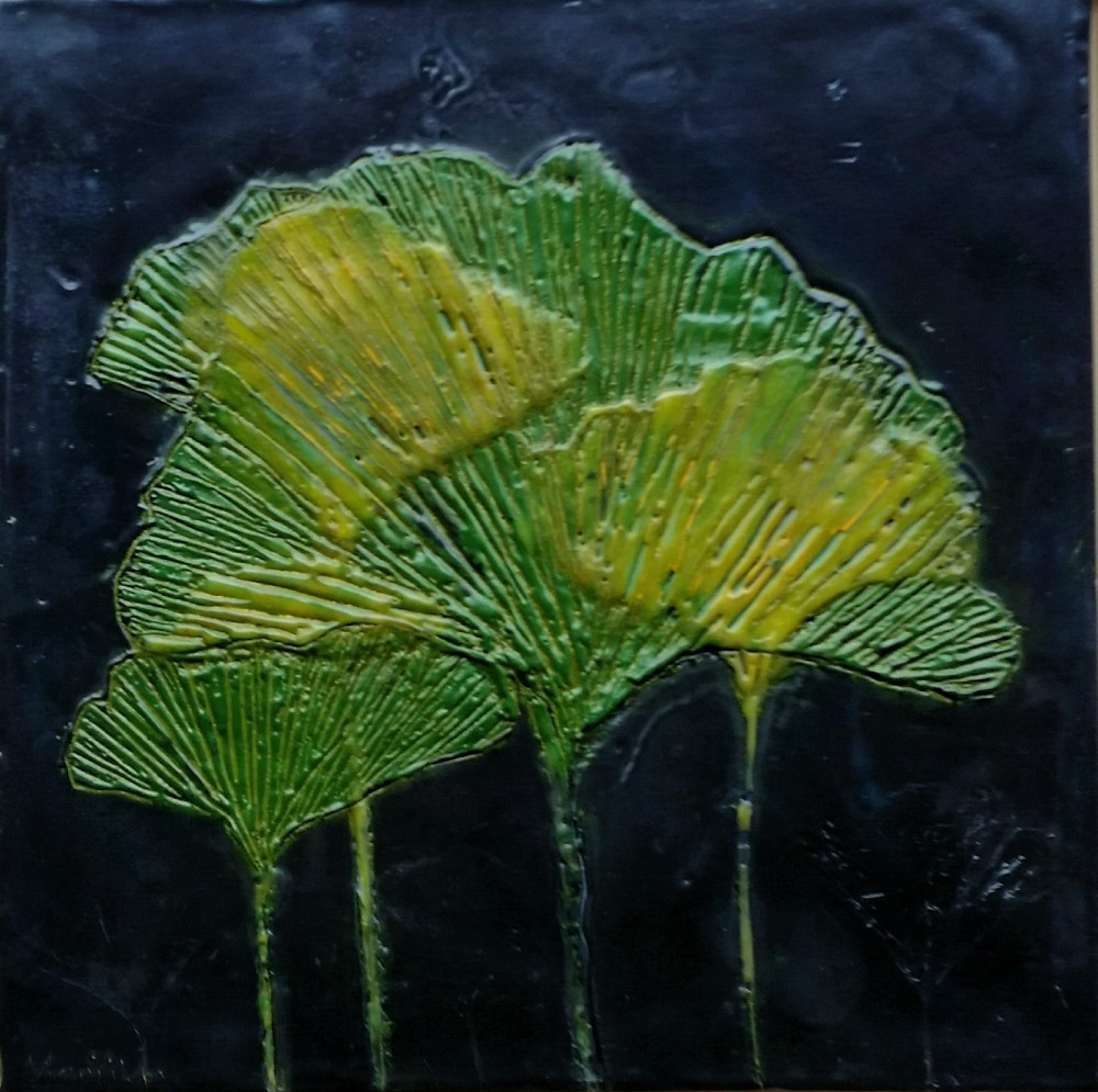 Green gingko leaves by Marijke Gilchrist