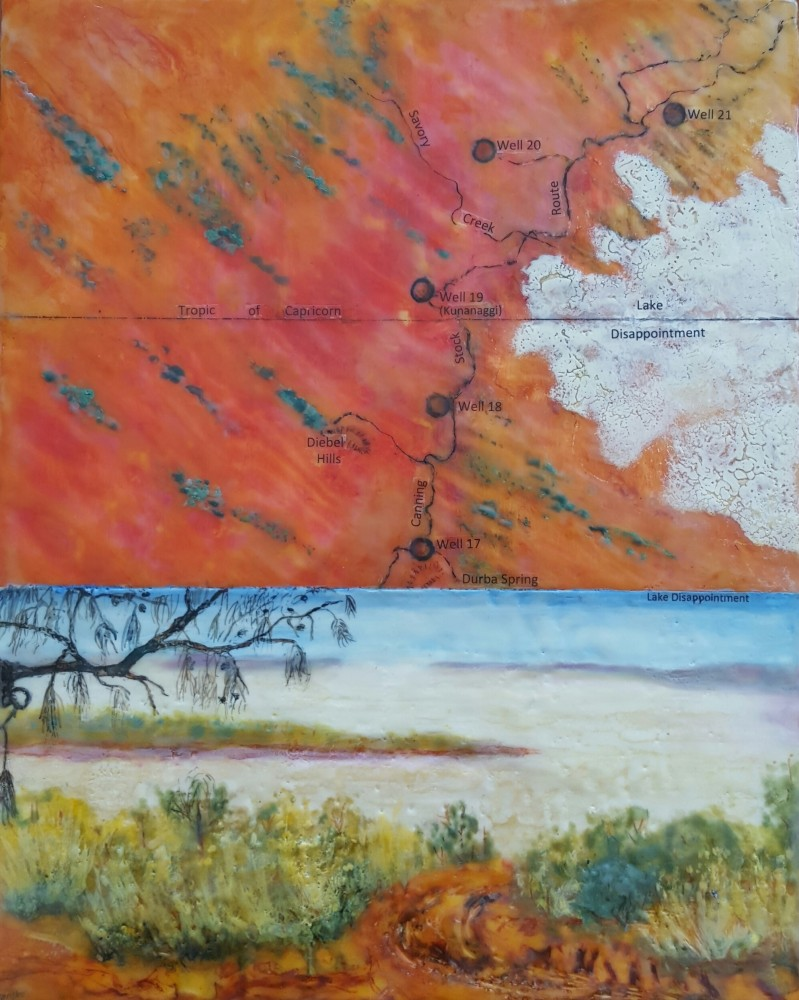 Map of Canning Stock Route Well 17 to 21 - Lake Disappointment by Marijke Gilchrist