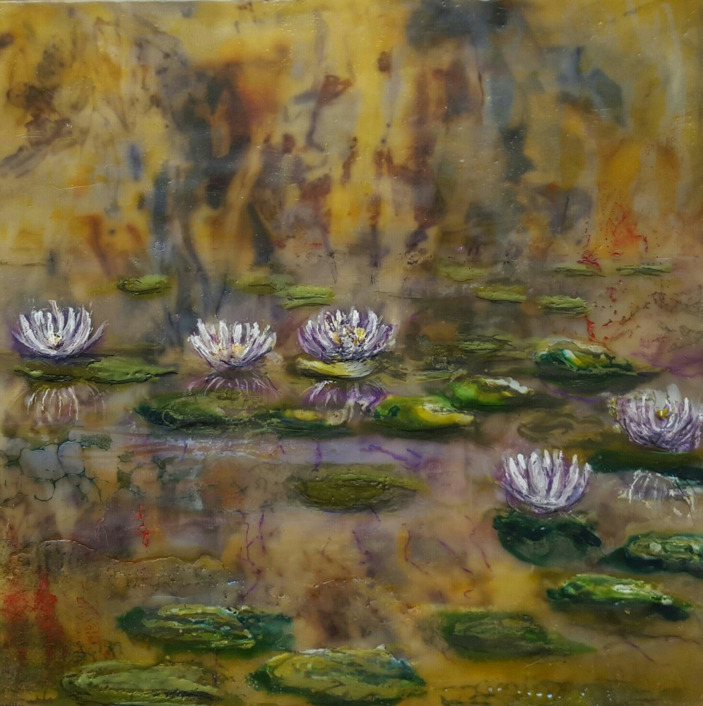 Water Lilies – purple by Marijke Gilchrist