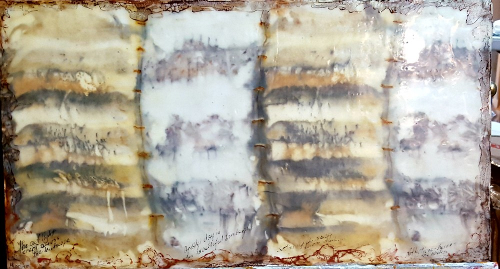 Pages from an artist journal by Marijke Gilchrist