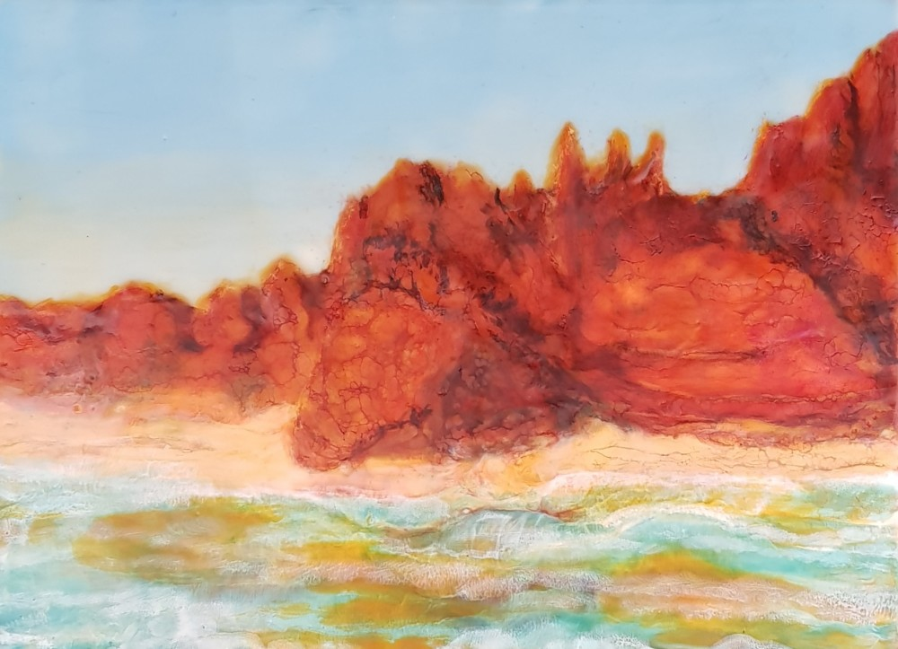 The red pindan cliffs of Cape Leveque by Marijke Gilchrist