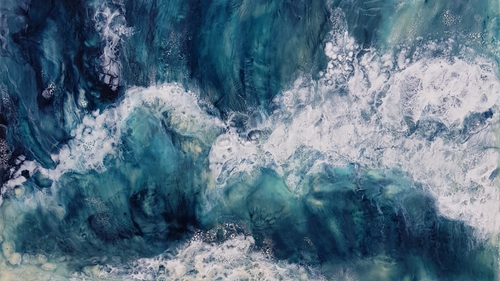 Detail of Roar of the surf by Marijke Gilchrist