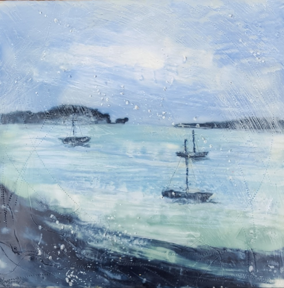 Foggy and rainy day, Broken Bay by Marijke Gilchrist