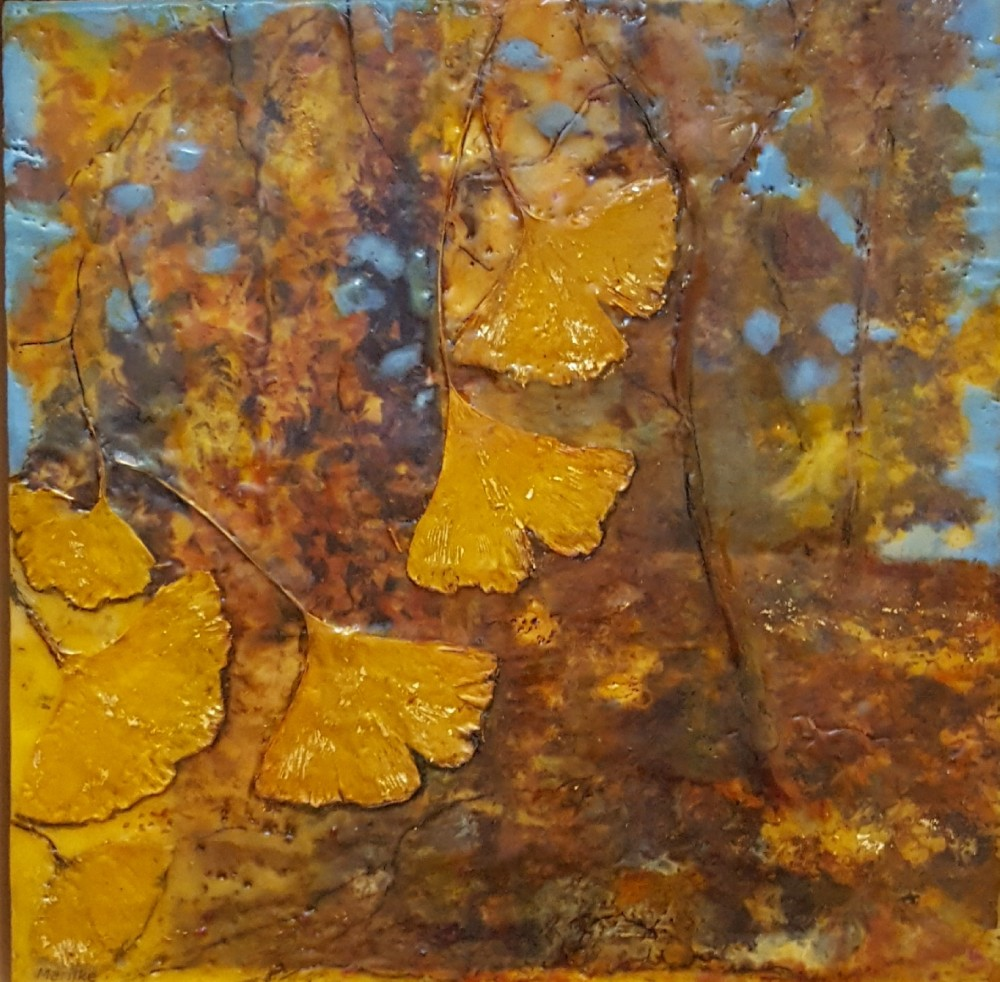 Gingko Bilbo trees in autumn by Marijke Gilchrist