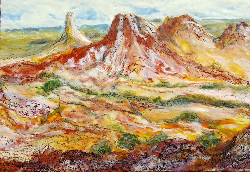 Vibrancy of the Kanku-Breakways near Coober Pedy SA by Marijke Gilchrist