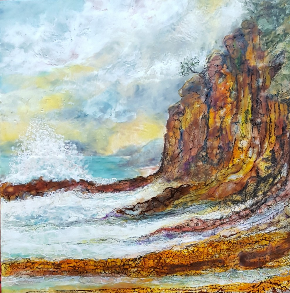 South coast cliffs by Marijke Gilchrist
