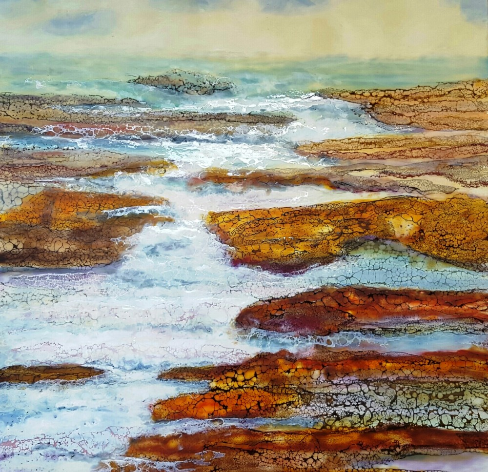 The sea ripples in by Marijke Gilchrist