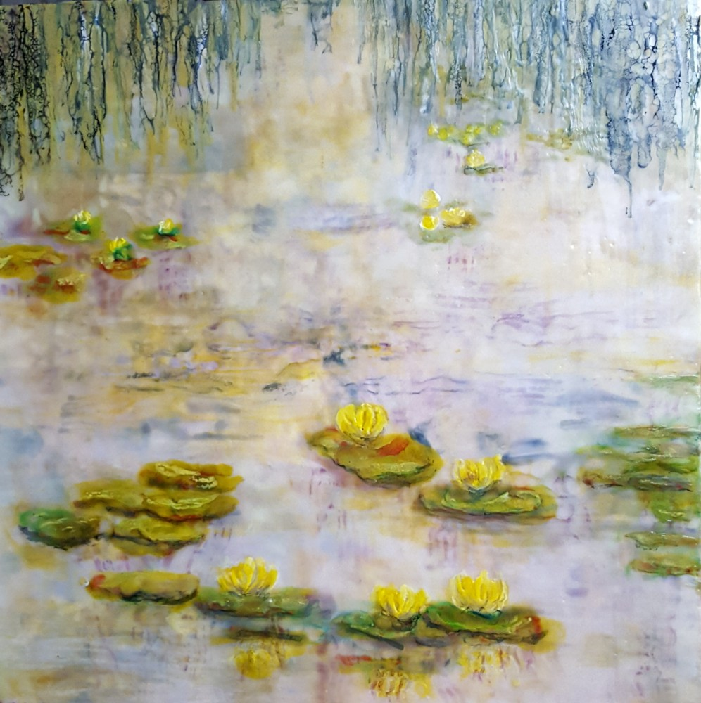 Water lilies - yellow by Marijke Gilchrist